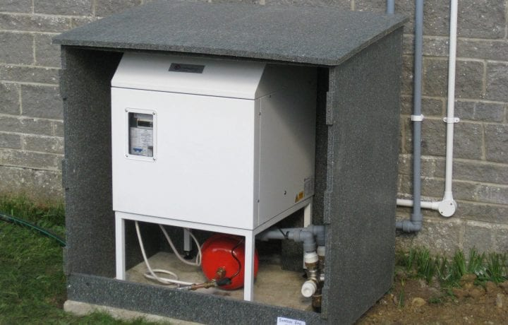 Ground Source Review: Yarlington ground source heat pump in recycled enclosure