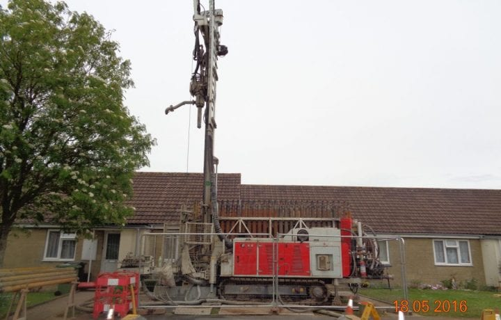 Ground Source Review: Bromford Phase Two ǀ Drilling rig at Bromford site