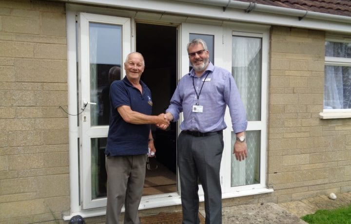 Ground Source Review: Bromford Phase Two ǀ Resident Mr Neale with Russ Fowler director of financial reporting