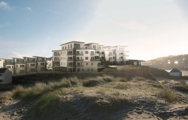 Kensa's Ambient shared ground loop arrays in luxury new build development, The Dunes