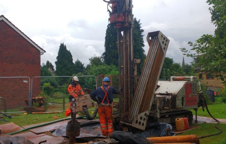 Ground Source Review South Shropshire Housing Association - drilling