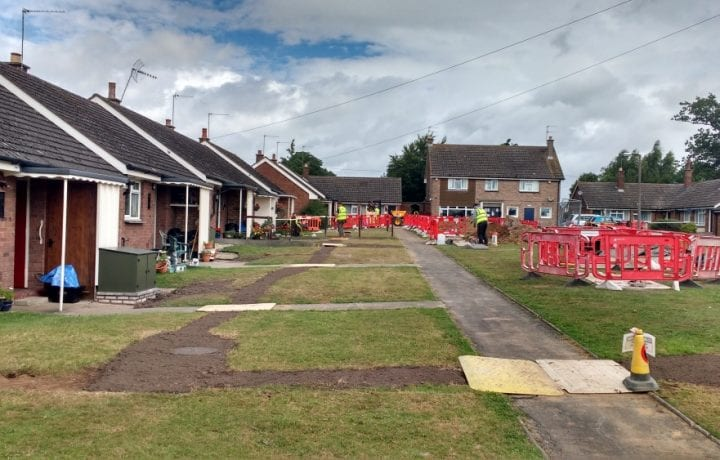Ground Source Review: South Shropshire Housing Association - Trenching and headering