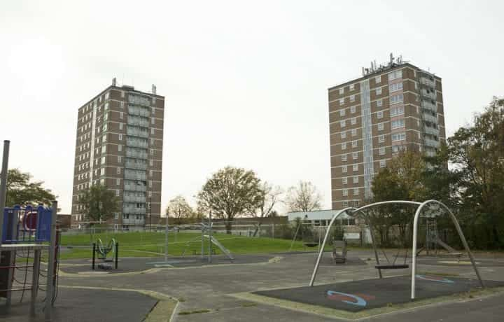 Enfield Tower Blocks witjh Shared Ground Loop Array ground source heat pumps