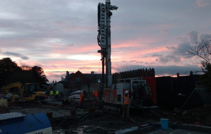 Ground Source Review:Shropshire Rural Housing, Llanymynech: Borehole drilling