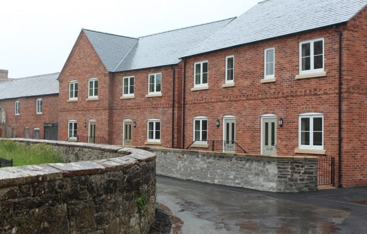 Ground Source Review:Shropshire Rural Housing, Llanymynech: View of properties
