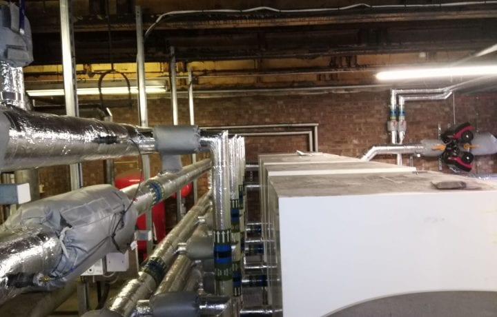 Ground Source Review: Stakeford Depot & Riverside Centre -Cascaded commercial plant room heat pumps, Top
