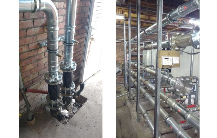Ground Source Review: Stakeford Depot & Riverside Centre -Heating and ground side pipework