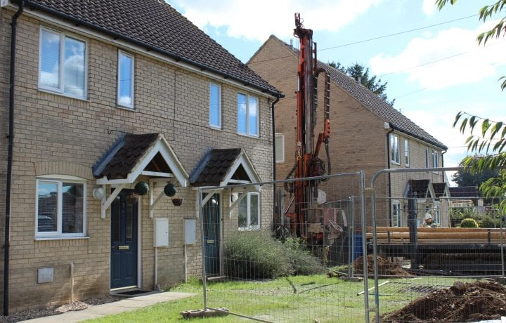 Ground Source Review: Flagship, Airey Close - View of properties during Installations