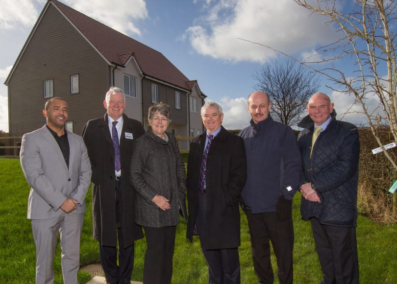 new build multiple housing shared ground loop array - shropshire rural housing