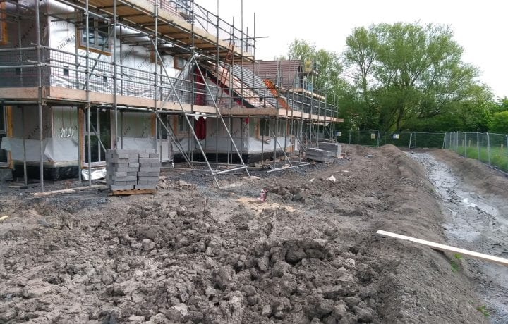 Ground Source Review: South Western Housing, Tuckers Close - Before completion of homes