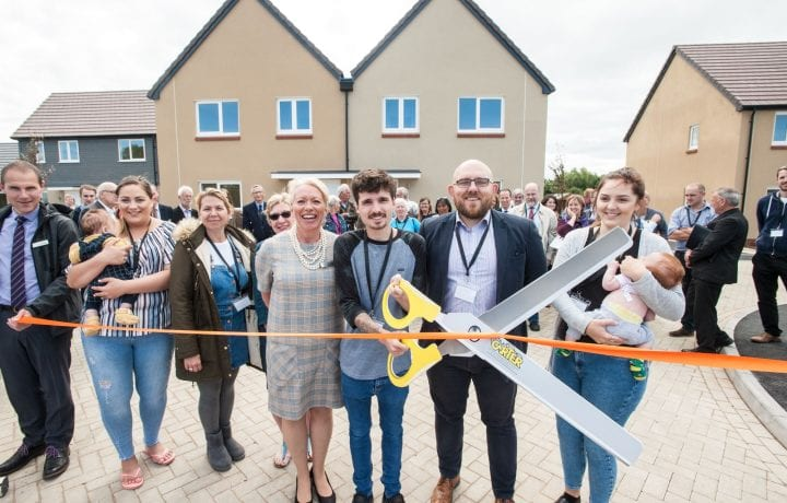 Ground Source Review: New build multiple housing flats shared ground loop array - Shropshire rural housing - Grand opening