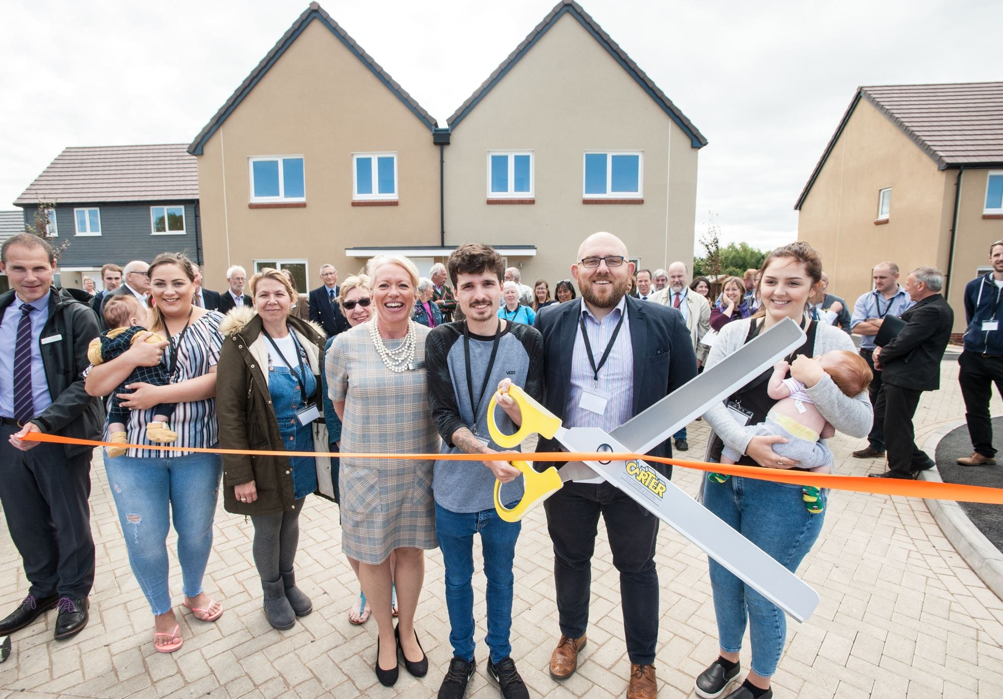 South Western Housing Society, Tuckers Close. An off-gas grid new build development of 12 affordable homes