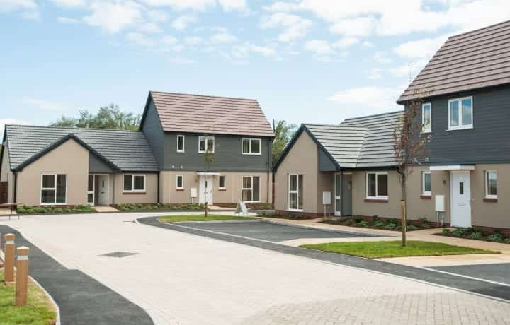 Ground Source Review: South Western Housing, Tuckers Close - Exterior of affordable homes
