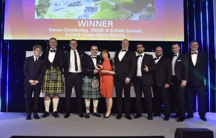 Kensa, Emgie and Enfield win District Heating Project Of The Year at HVN Awards 2019