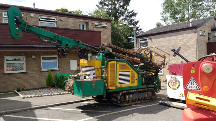 Ground Source Review:Hanover, Ashfield Court drilling rig