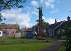 Ground Source Review South Shropshire Housing Association - Borehole drilling 2