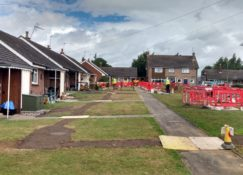 Ground Source Review South Shropshire Housing Association - Trenching and headering
