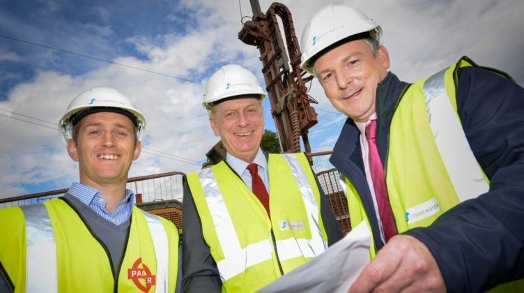 Stonewater Housing Weobley District Ground Source Heat Pump Retrofit Social Housing Project Borehole drill rig