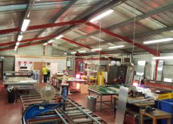 Stakeford Depot Workshop Before Ground Source Heat Pumps Using Direct Electric Radiant Heaters