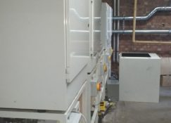 Kensa Commercial Plant Room Heat Pump During Installation