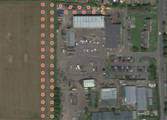 Stakeford depot aerial view boreholes