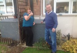 Mr & Mrs Coombe, Yarlington residents of ground source heat pumps