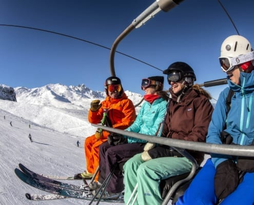 ski holiday with friends