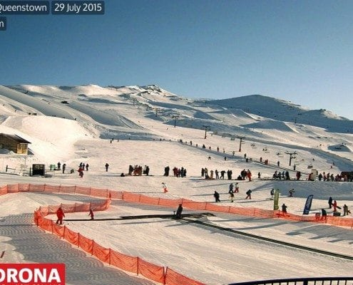 Summer skiing in Cardrona