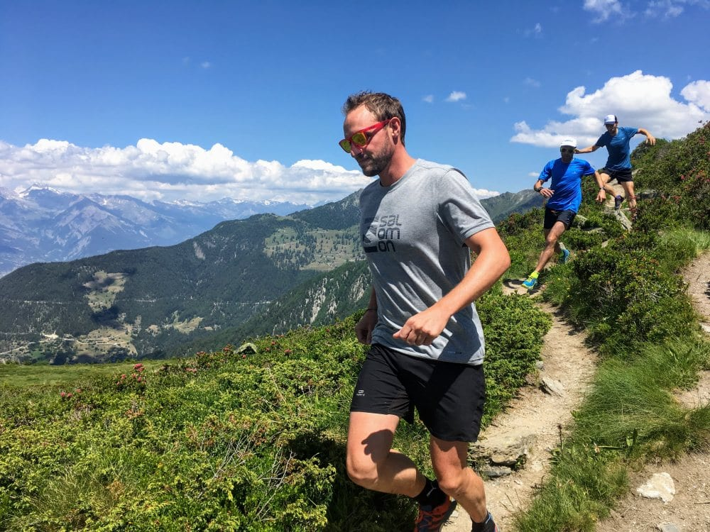trail running summer in the alps