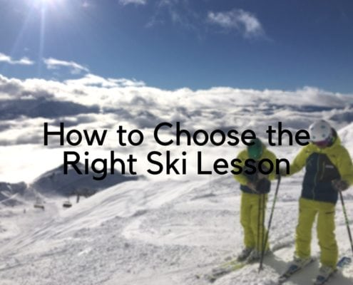 choose the right ski lesson