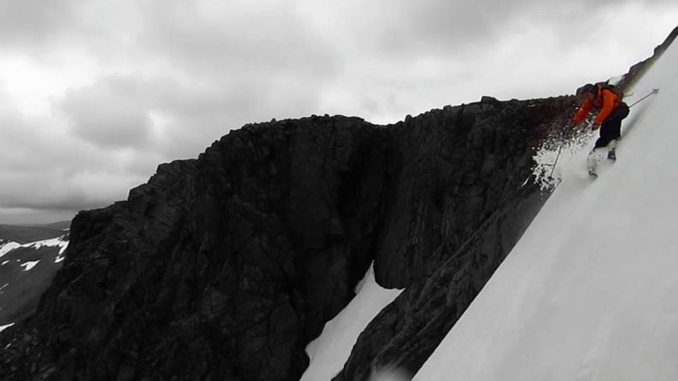In on the action: Braeriach's West Gully