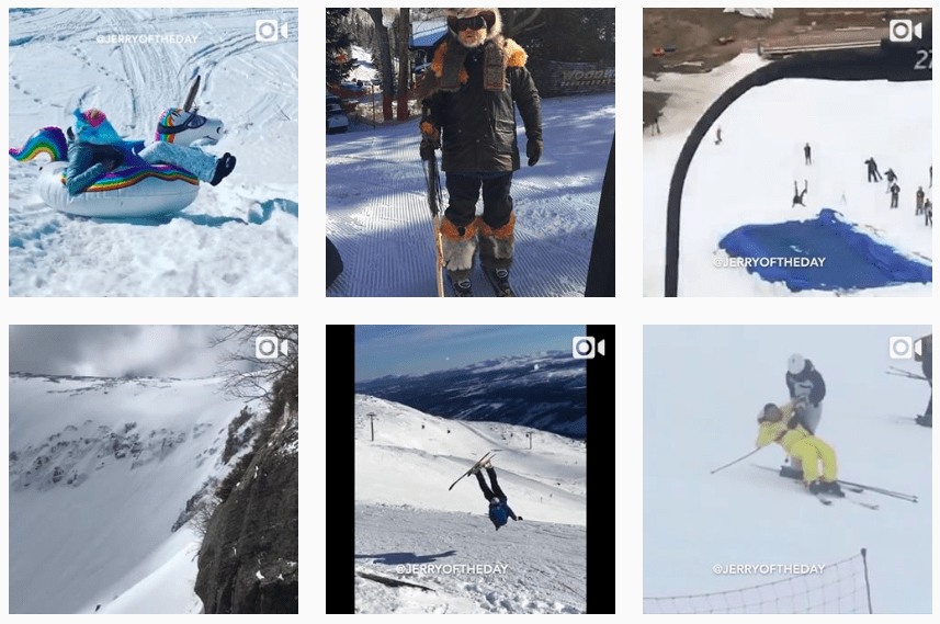 Jerry of the Day Instagram Ski Account