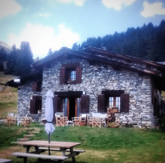 Mountain Refuge in the Alps