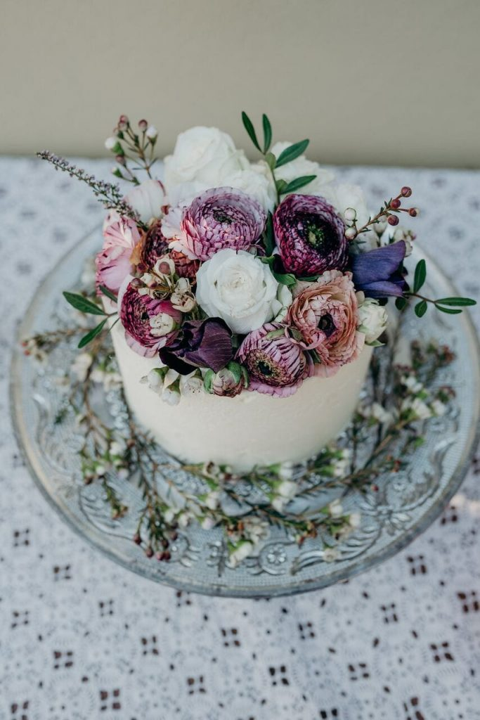 more cake elopement wedding cake inspiration ever after blog simple flowers