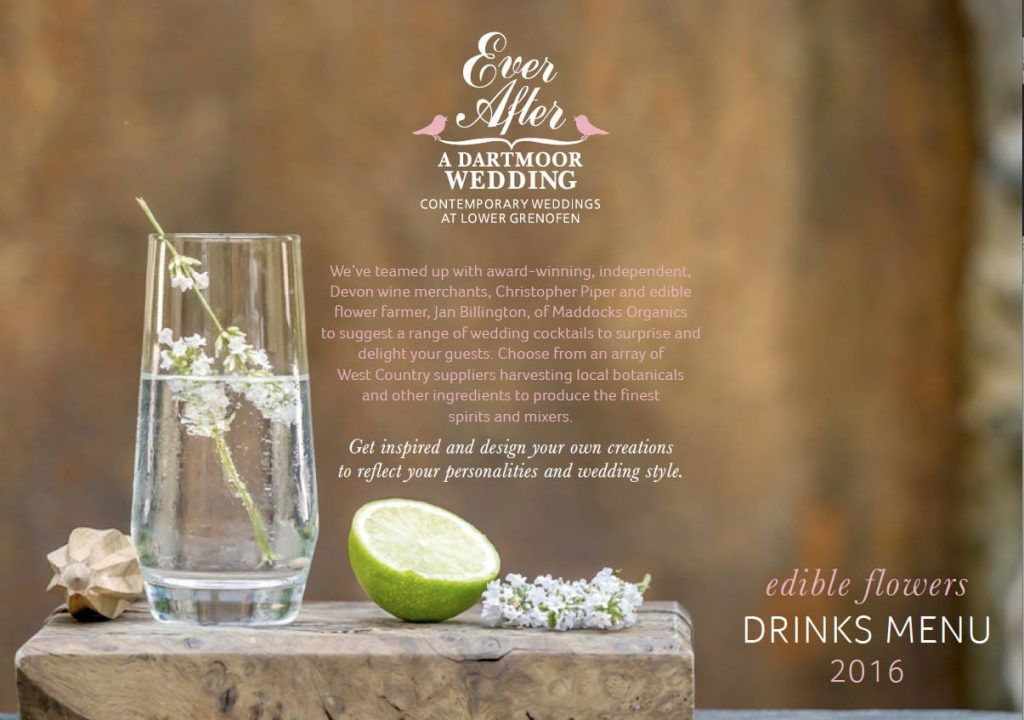 Ever After 2016 drinks menu front page