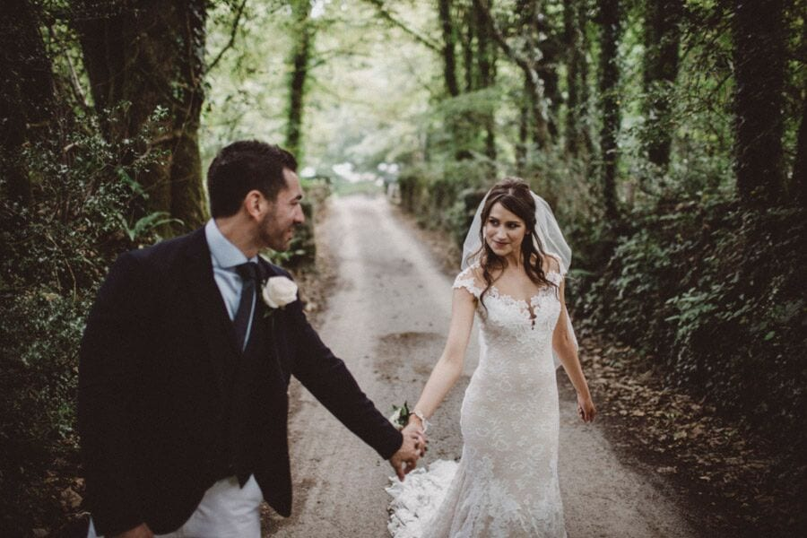 bride and groom penny and pete august 2017