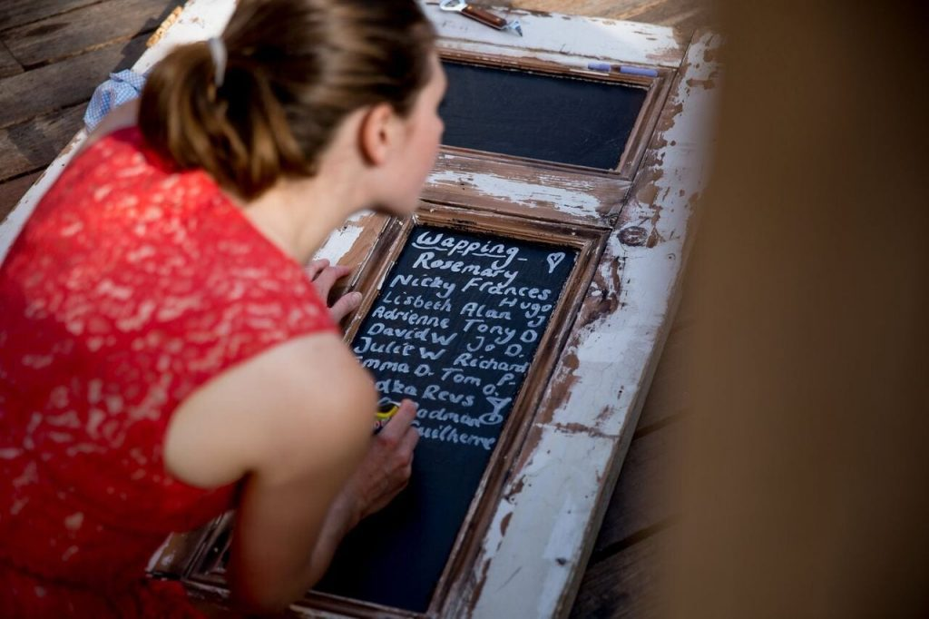 table plan at ever after door