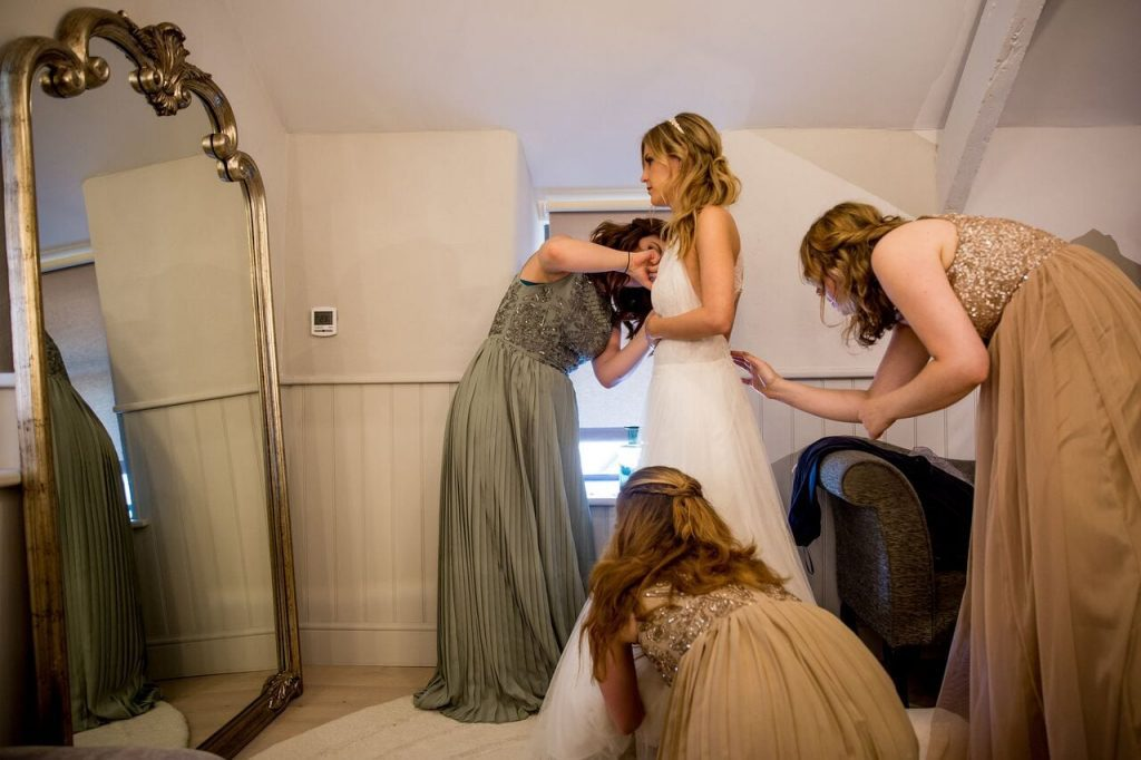 the dress ever after blog post bride getting ready