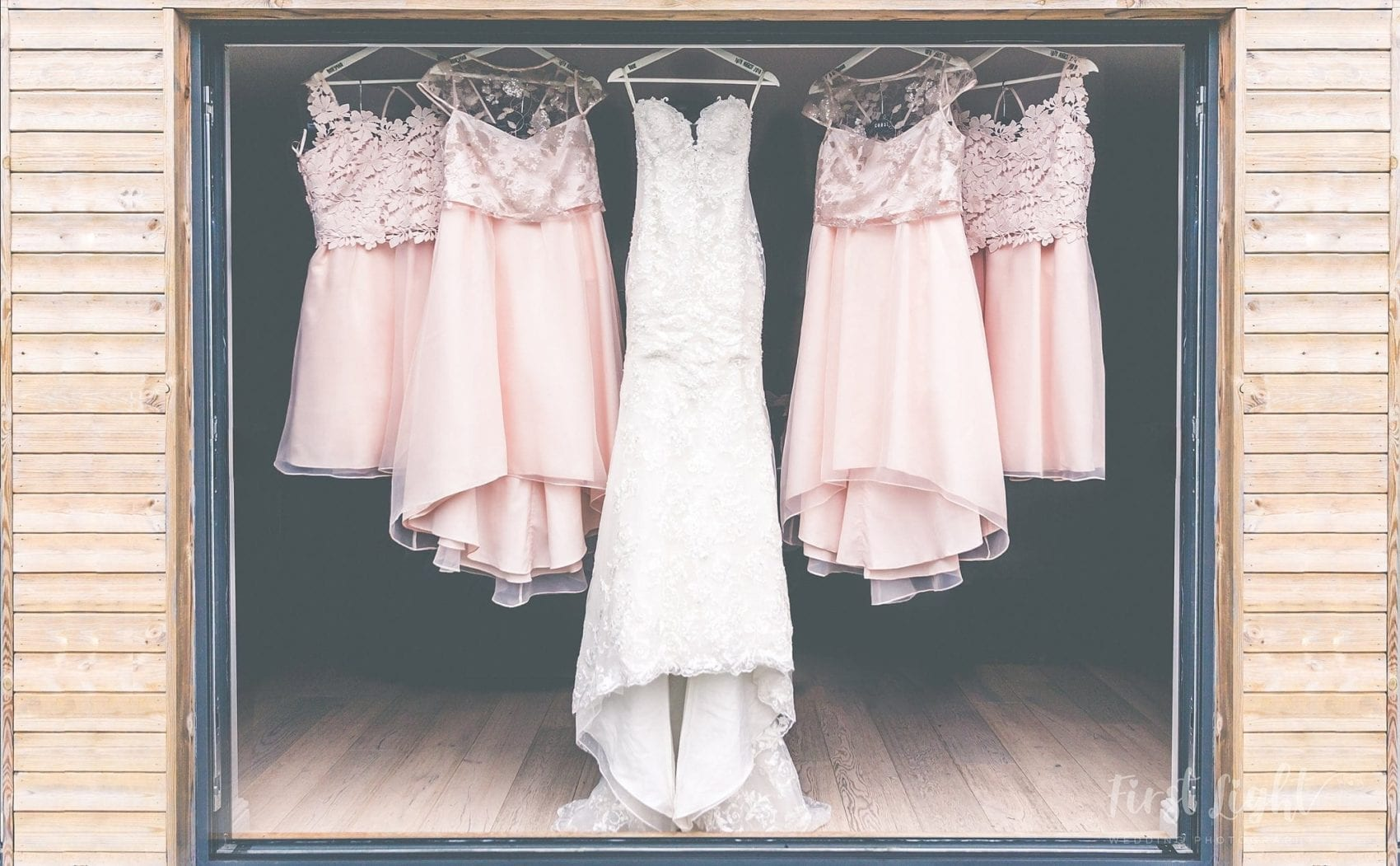 Wedding, dresses, bridesmaids, picture perfect, shepherd's hut, hanging, elegant, ever after, lower grenofen, Pre-wedding